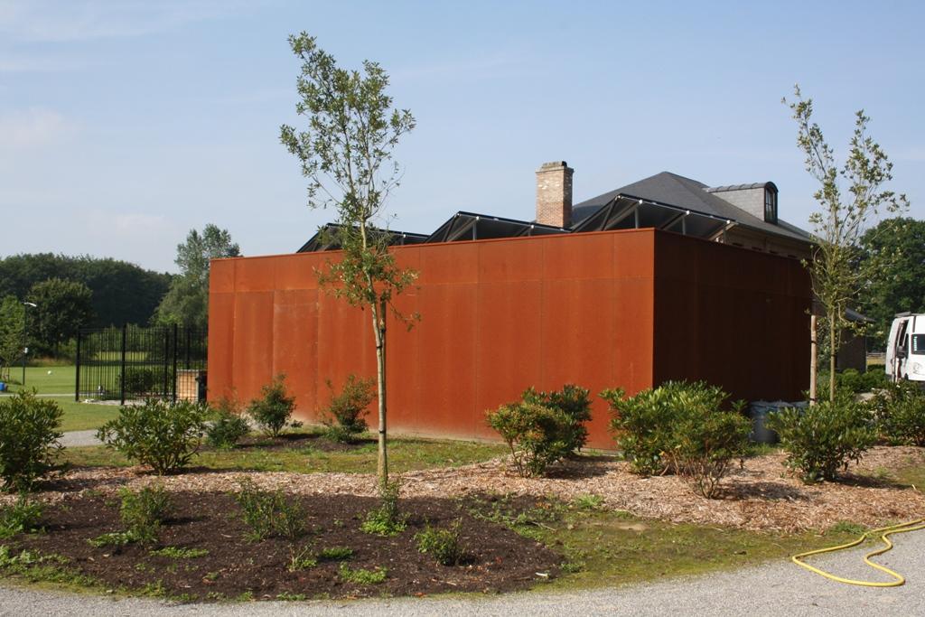 Cortenstaal garage dm construct diksmuide nieuwpoort - Latwerk houten ...
